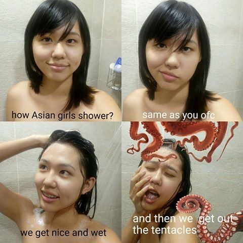 how-asian-girls-shower-meme