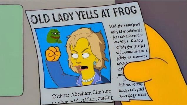 hillary-clinton-pepe-meme-old-lady-yells-at-frog