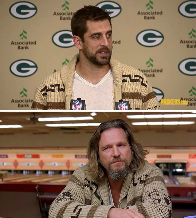 aaron-rogers-big-lebowski-dude-sweater