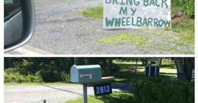 Bring back my wheelbarrow
