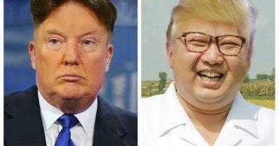 Donald Trump Kim Jong Un Hairswap meme